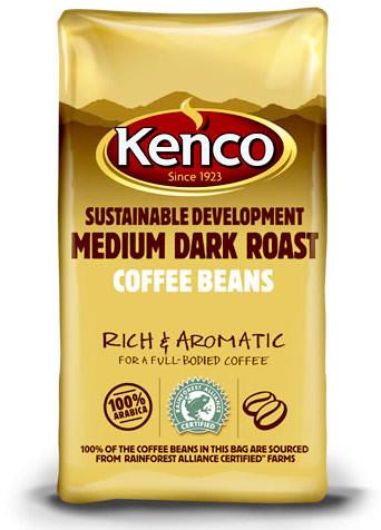 Kenco Medium Dark SD Coffee Beans 8 x 1kg
