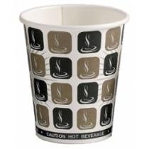 8oz Cafe-Mocha Hot Drink Paper Cups 20x50