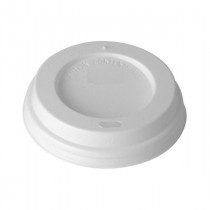 White Domed Sip Thru Lid 10x100 (8oz Cup)