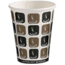 12oz Cafe-Mocha Hot Drink Paper Cups 20x50