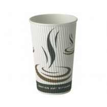 12oz Weave Ripple Hot Drink Paper Cups 20x25