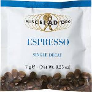 Miscela d'Oro Espresso Single Decaf Pods x150
